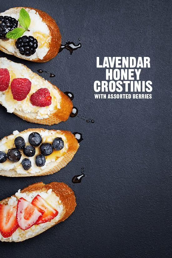 Lavendar Honey Crostinis